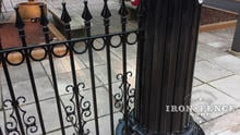 4ft Tall Wrought Iron Fence with Add-on Rings and Guardian Decorations (Signature Grade)