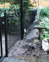 4ft Tall Wrought Iron Fence in Hoop and Picket Style