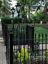 4ft Tall Classic Wrought Iron Fence with Add-on Decoration Scrollwork