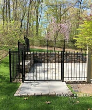 A 4ft Tall x 5ft Wide Iron Entry Gate with Matching Classic Style Iron Fence