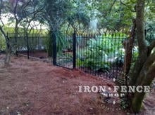 5ft Tall Iron Fence with an Arched Iron Gate in Classic Style and Traditional Grade