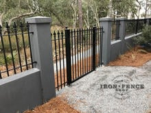 A 5x4 Classic Style Iron Gate Opening in a Knee Wall