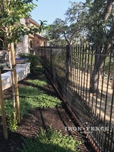 5ft Wrought Iron Fence with Puppy or Doggie Pickets to Contain Small Dogs