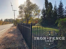 5ft Tall Classic Style Wrought Iron Fence in Signature Grade