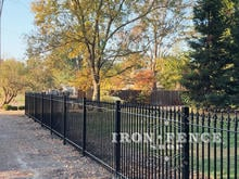 Stronghold Iron Fence in a 5ft Height and Classic Style