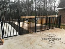 Signature Grade 5ft Tall Aluminum Gates in 12ft Double and 4ft Single w/ Matching Fence