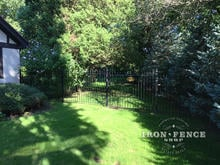 Our 5ft Tall Classic Style Iron Fence with Matching 5x6 Gate