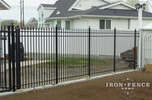 6ft Tall Infinity Aluminum Metal Fence Panel in Classic Style and Traditional Grade
