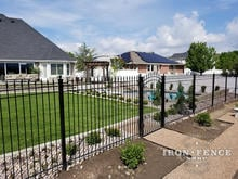 Our 6ft Tall Iron Fence in Classic Style and Traditional Grade with Matching Arch Gate