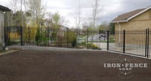 6ft Aluminum Fence Panel Racked to Follow Grade