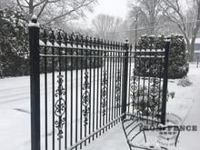 6ft Classic Style Iron Fence in Signature Grade with Add-on Decorations