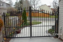 Infinity Aluminum Arched Double Gate in a 5ft Arching to 6ft Height and 10ft Width
