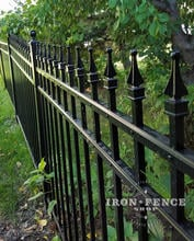 Infinity Aluminum Fence with Authentic Cast Aluminum Finials Welded on Top