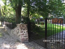 12ft Wide Double Iron Arch Gate in Classic Style and Signature Grade