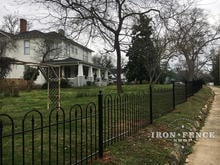 Custom Built Wrought Iron Fence in Victorian Hoop and Picket Style
