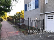 Custom Iron Fence Design in Traditional Grade Stronghold Iron