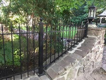 3ft Iron Fence on A Stone Wall Top with Customer Customized Angle Panel