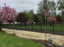 Stronghold Iron Fence in Classic Style and Signature Grade used for a Historic Cemetery