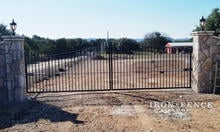 Wrought Iron 20ft Double Gate (Two 10ft Halves) in a 5ft to 6ft Height and Classic Style