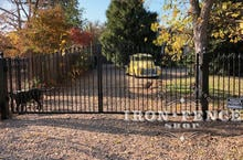 16ft Wide Iron Estate Driveway Gate in Classic Style and a 5ft to 6ft Arch