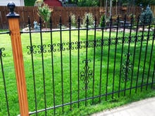 Give Your Iron Fence Panels a Custom Look with Our Add-on Decorations that Fit Over the Picket