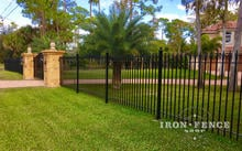 5ft Tall Wrought Iron Fence in Classic Style and Signature Grade