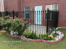 Iron Fence used to Enclose a Back Patio Deck (5ft Tall Signature Grade)