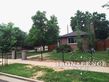 Our 3ft Tall Classic Style Iron Fence with Brick Entryway Columns