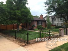 Our 3ft Tall Classic Style Iron Fence on a Corner Lot