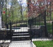 4ft Iron Arched Gate Entryway to Back Pool and Patio