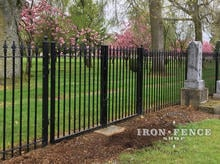 Wrought Iron Double Gate (8ft Wide) and Fence Panel in a 5ft Height and Classic Style